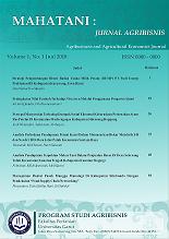 Mahatani Jurnal Agribisnis Agribusiness And Agricultural Economics